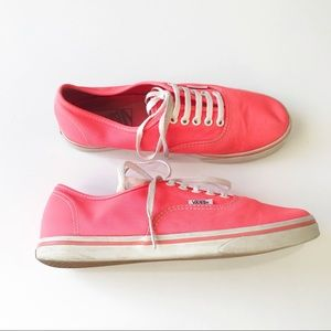 VANS Solid Neon Low Top Canvas Lace Up Sneakers